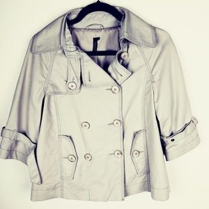 Topshop Trench Coat Cropped  Double Breasted